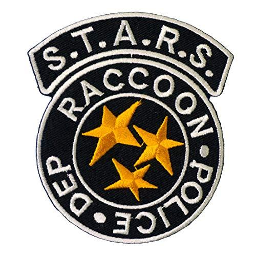 Graphic Dust Resident Evil Stars Raccoon Police Badge Iron On Patch Logo Umbrella Corporation Biohazard Skull Rescue Team Cosplay Costume S.T.A.R.S. Biohazard