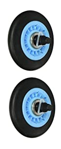 Noa Store DC97-16782A Dryer Drum Roller & Axle Replacement For Whirlpool Maytag Samsung (Pack of 2)