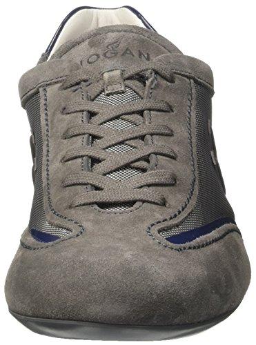 Hogan Hxm05201682d85690o - deportivas bajas Hombre Multicolore (Fumo/Piombo/Bal)