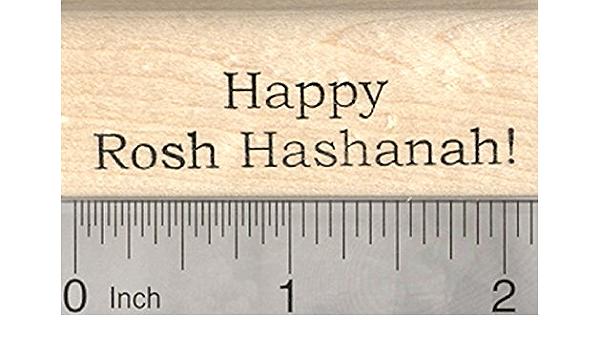 Happy Rosh Hashanah Rubber Stamp Yom Teruah  D26009  Wood Mounted Jewish New Year