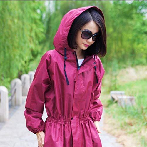 Voyage Saoye Plein Côté Fashion Imperméable Section Coupe Mode Poches Femmes Long vent Raincoat À Vêtements En Trench Air B Capuche rXtwXcPq6
