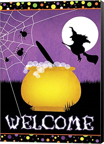 Halloween Witch by Josefina Canvas Art Wall Picture