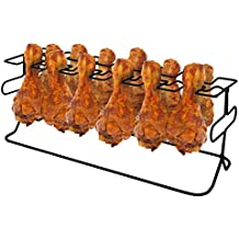 how to cook chicken legs on a rack