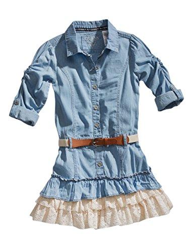 GUESS Kids Big Girl Tiered Denim Dress (7-16)