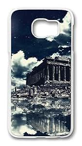 Brian114 Case, S6 Case, Samsung Galaxy S6 Case Cover, Akropolis-Wallpaper Retro Protective Hard PC Back Case for S6 ( white )