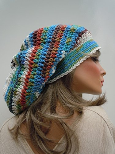 Peruvian Colors Tam, Brazilian Colors Slouchy, Desert Colors Long Hat, Slouchy Beanie, Hippie Beanie, Oversized Slouchy, Dreadlock Tam, Rasta Tam, Rasta Hat, Long Stocking Cap, Jamaica