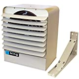 Cheap King Electric KB2407-1-T-B1 Electric Space Heater, 208V/240V, 30 Amp with Thermostat and Bracket, Gray