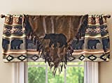 Black Forest Decor Timber Woods V Lodge Valance – Rustic Window Decor