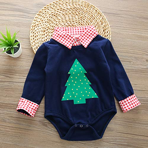 6d6107d19 SWNONE Newborn Baby Boys Christmas Outfit Plaid Shirt Romper Jumpsuit  Bodysuit Xmas Clothes Set (Christmas