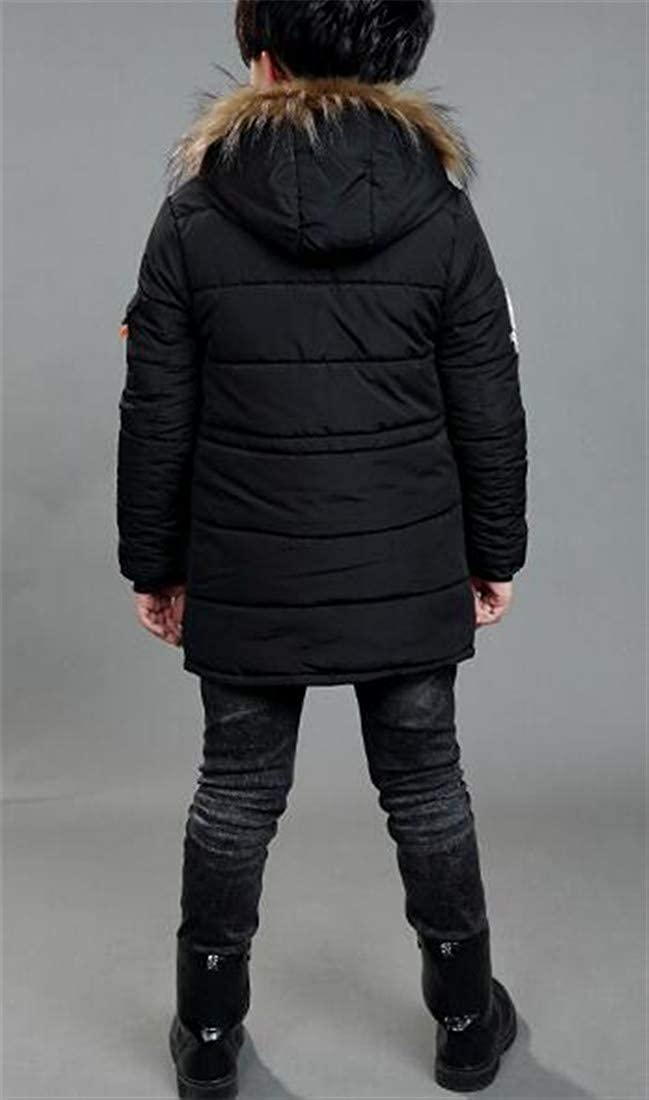 GloryA Boys Slim Fit Warm Hooded Quilted Hipster Cute Parkas Coats