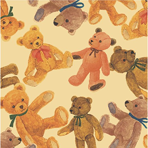 TAKA Roll Wrapping Paper 10 Sheets Of Bear Plusieurs 20.7 In x 29.5 In ( Made in Japan ) 49-7311]()