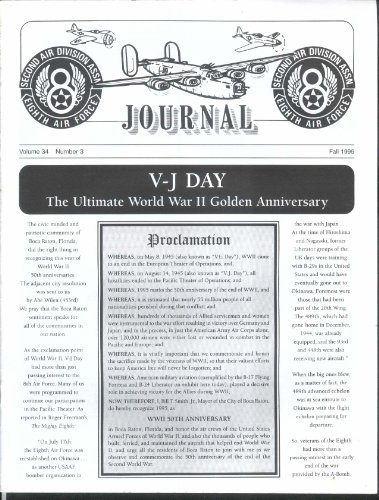 2nd Air Division Journal 8th Air Force Vol 34 #3 Al Gore VE Day Fall -