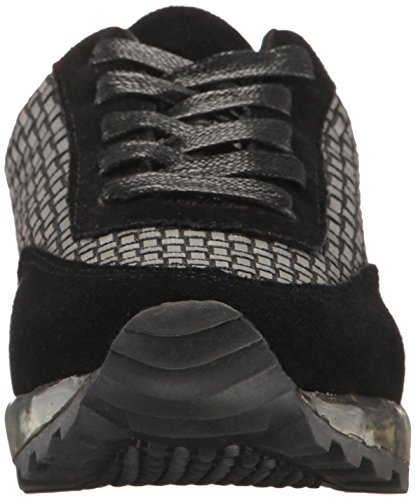 Bernie Mev Womens Gel Fashion Sneaker Nero Riflettente