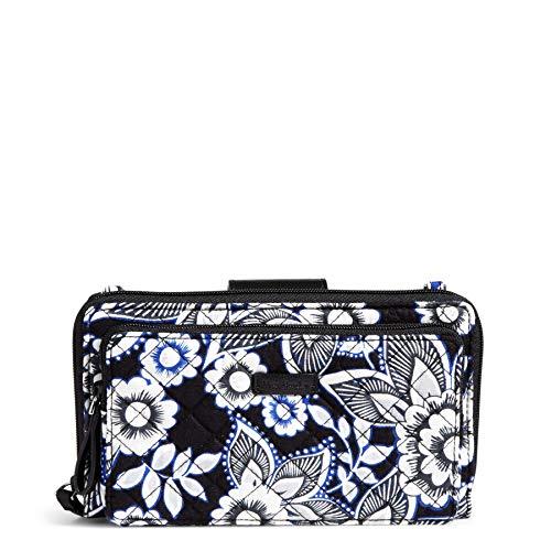 Vera Bradley Iconic Deluxe All Together Crossbody, Signature Cotton, Snow Lotus