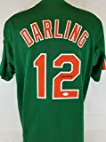 Ron Darling autographed signed Mets green jersey JSA Authentic