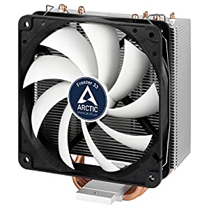 Arctic Freezer 33 – Semi passive Tower CPU cooler for Intel 115X/2011-3 and AMD AM4 with 120 mm PWM Fan, Silent high performance cooler – Grey/Black
