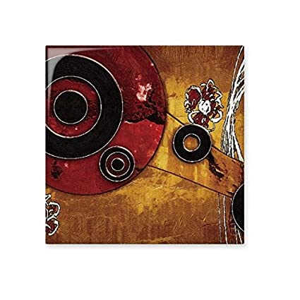 red black circle yellow background graffiti abstract art painting