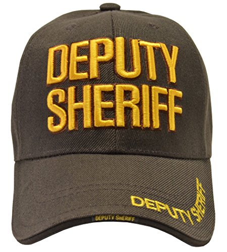 Incrediblegifts Deputy Sheriff Brown Hat Gold Embroidered