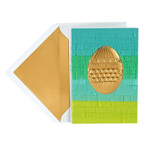 Hallmark Signature Easter Greeting Card (Gold Easter Egg)