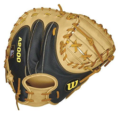 UPC 887768254469, Wilson A2000 Baseball Catcher's Mitt, Blonde/Black, Right Hand Throw, 34-Inch
