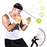 callm Kick Balls Reflex Boxing Trainer Punching Speed Training Ball Fight Ball with Head Band (Multi)