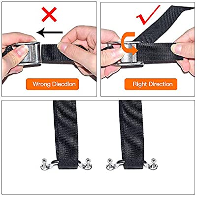 Battery Box Hold-Down Strap Tie Down Strap for Gas Fuel Heavy Duty Battery Box Replament Tie Down Straps Kit Anti-UV Strap with Stainless Steel Cam Buckle, Stainless Steel Deck Loop Mounts, SS Screws: Home Improvement