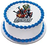The Avengers Marvel Super Heroes Personalized Edible Cake Image Topper