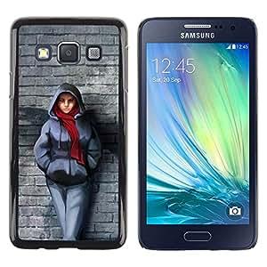 Be Good Phone Accessory // Dura Cáscara cubierta Protectora Caso Carcasa Funda de Protección para Samsung Galaxy A3 SM-A300 // Badass Steet Girl
