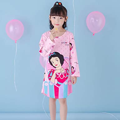 Primavera Y Otoño De Dibujos Animados Infantiles Pijamas Niñas Camisón De Algodón De Manga Larga Vestido Aisha Big Niña Camisón, 09-12码: Amazon.es: Ropa y accesorios
