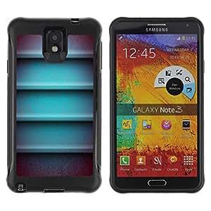 Suave TPU GEL Carcasa Funda Silicona Blando Estuche Caso de protección (para) Samsung Note 3 / CECELL Phone case / / Metal 3D Lines Horizontal Abstract /