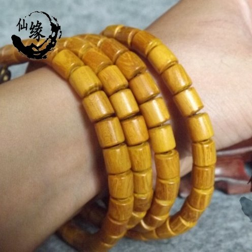 Clearance not bargain authentic sandalwood bracelets gold jewelry for men and women couple beads bracelet beads opal veins barrel