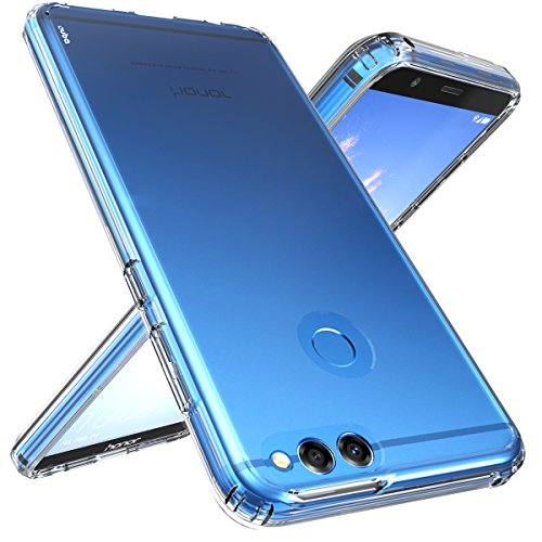 Ouba Huawei Honor 7X Case, Huawei Mate SE Case, [Shock Absorption] Air Hybrid Armor Defender Protective Case and Crystal Clear Back Cover for Huawei Honor 7X (2017) / Huawei Mate SE (2018) - Clear