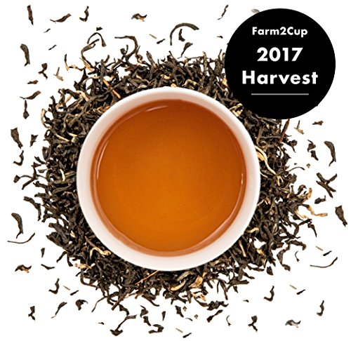 Premium English Breakfast Black Tea (200+ Cups) - Strong 2017 Harvest Loose Leaf Tea - Full Bodied Assam Whole Leaf Tea Direct from 5th Generation Indian Tea Farm - Bulk Pack - (1 Pound) - Full Leaf Tazo Tea