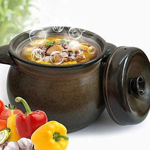 UWY Pot à ragoût en Terre Cuite Casserole Casserole en céramique - Froid et Chaud alternativement sans Fissuration, Conservation de la température et du goût, Durable