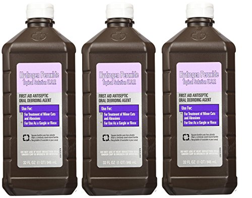 Hydrogen Peroxide Topical Solution, 32 Ounce (3 Pack) - Hydrogen Peroxide Topical Solution