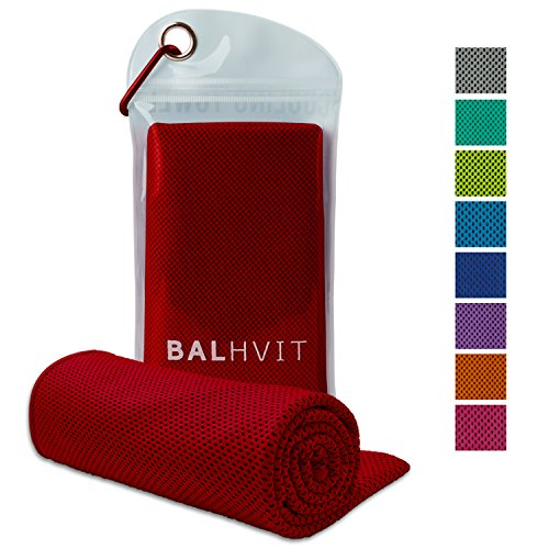 Balhvit Cooling Towel, Cool Towel for Instant Cooling Relief, Chilling Neck Wrap, Ice Cold Scarf For Men & Women, Microfiber Bandana - Evaporative Chilly Towel For Yoga Golf Travel Beach