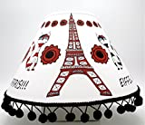 Red and White Cat Hats in Paris Lamp Shade/Paris Room Decor
