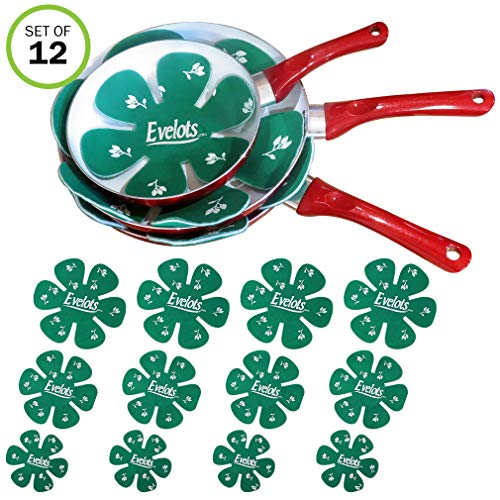 (Evelots Felt Dish & Pan Scratch Protector -Ceramic-Glass-Cookware-Divider-Set/12)