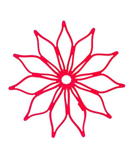 Trivet Expanding (Blossom 16847 Mini Multi-Purpose Expanding Flower Silicone Trivet Hot Pad Coaster (Set of 2), 5.5
