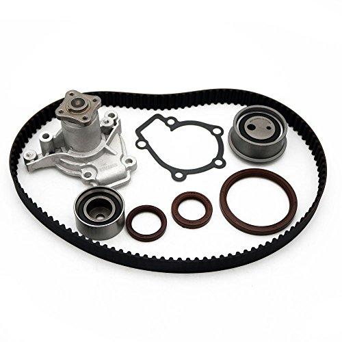 Engine Timing Belt Kit Water Pump Kit TS26284 WP9137 fits 99-08 Hyundai Kia 2.0L DOHC (8125 Belt)