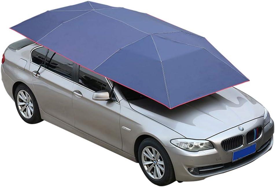 Manuel Semi-Automatique Hot Summer Car Cover Portable Mobile Carport pli/é Protection Automobile Sun Shade Anti-UV Canopy Sunproof Shelters LLF Parapluie de Tente de Voiture