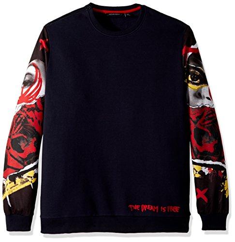 Sean John Men's Tall Size The Dream is Free Sweatshirt, Night Sky, 3XLT from Sean John
