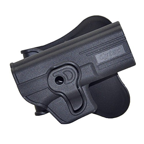 BASTION Tactical Holster OWB Holsters for for Glock 17 19 22 23 31 32 Models Only, Trigger Release Paddle Holsters with Adjustable Cant Military Grade Polymer Holster 360 Degrees Rotation (Best Paddle Holster For Glock 23)