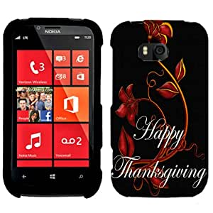 Nokia Lumia 822 Happy Thanksgiving with Red Flowers Phone Case Cover