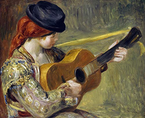 (Pierre-Auguste Renoir Girl with a Guitar 30