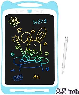 AGPTEK 8.5 Pulgadas Tablets de Escritura con Pantalla de Color LCD, Botón de Bloqueo, Portátil Tableta de Dibujo para Niños, Clase, Casa, Azul
