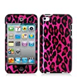 Hot Hot Pink Leopard Hard Snap-On Crystal Skin Case Cover Accessory For Ipod Touch 4Th Generation 4G 4 8Gb 32Gb 64Gb