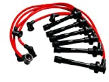 03-06 VMS Racing 10.2mm High Performance Engine SPARK PLUG IGNITION WIRES Wire Set in RED for HYUNDAI TIBURON GT SE 2.7L Liter V6 03 04 05 06 2003 2004 2005 2006