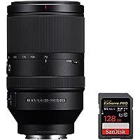 Sony (SEL70300G) FE 70-300mm F4.5-5.6 G OSS Full-frame E-Mount Lens with Sandisk Extreme PRO SDXC 128GB UHS-1 Memory Card