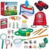AMDVibes Kids Explorer Kit 25-Pack Kids Outdoor Kit, The Complete Set of Kids Bug Catcher Kit for Kids and Outdoor Explorer Kit for Kids, All-Inclusive Explorer Kits for Boys Girls Age 3-12 Year Old